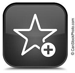 Add to favorite icon special black square button