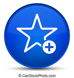 Add to favorite icon special blue round button