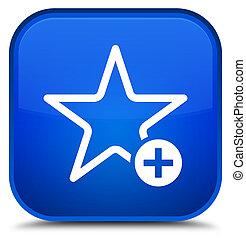 Add to favorite icon special blue square button