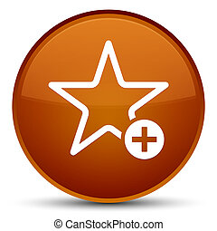 Add to favorite icon special brown round button