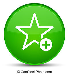 Add to favorite icon special green round button