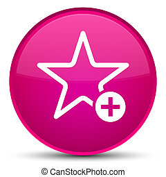 Add to favorite icon special pink round button