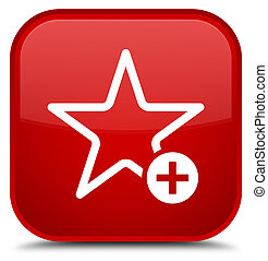 Add to favorite icon special red square button