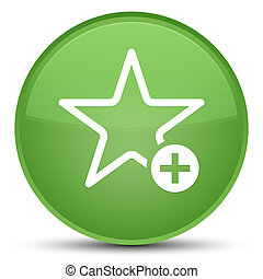Add to favorite icon special soft green round button