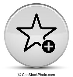 Add to favorite icon special white round button