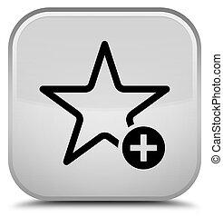 Add to favorite icon special white square button
