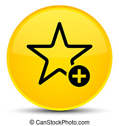 Add to favorite icon special yellow round button