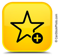 Add to favorite icon special yellow square button
