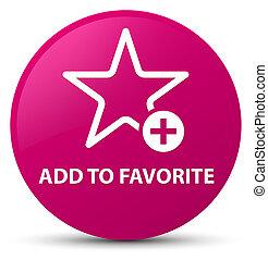 Add to favorite pink round button