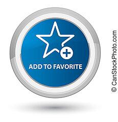 Add to favorite prime blue round button