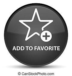 Add to favorite special black round button