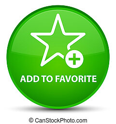 Add to favorite special green round button