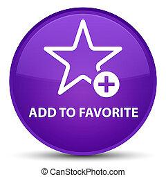 Add to favorite special purple round button