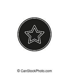 add to favorites icon - favorites button, star symbol - internet bookmark sign