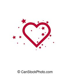Add to favorites icon - Heart with Stars