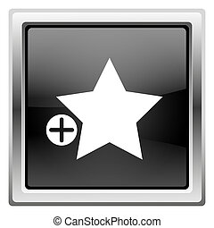 Add to favorites icon - Metallic icon with white design on...