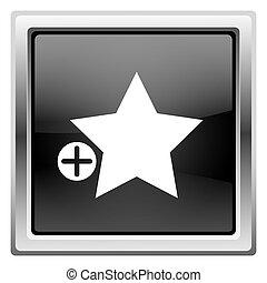 Add to favorites icon - Metallic icon with white design on ...