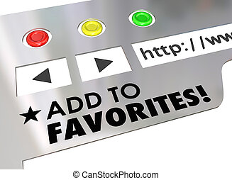 Add to Favorites Website Browser Internet Bookmark Page