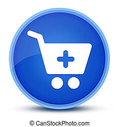Add to shopping cart icon isolated on special blue round button abstract