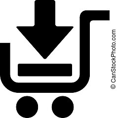 Add to shopping cart pictogram