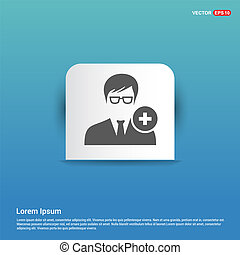 Add User Icon - Blue Sticker button