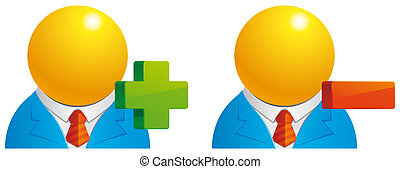 Add/Delete user - Isolated illustration Add/Delete user...