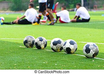 addestramento, accademia, football, giovane, giocatore, calcio, bambini