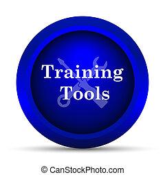addestramento, attrezzi, icona