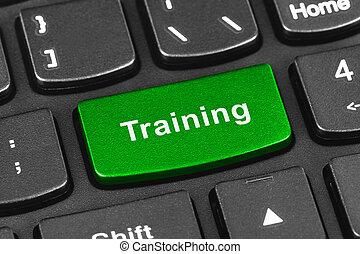 addestramento, computer portatile, chiave, tastiera