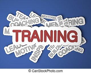 addestramento, concept.