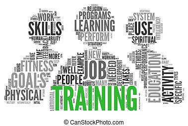 addestramento, concetto, educazione, parole, relativo