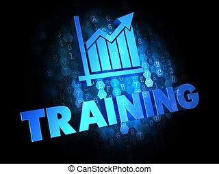 addestramento, concetto, su, digitale, fondo.