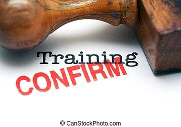 addestramento, confermare