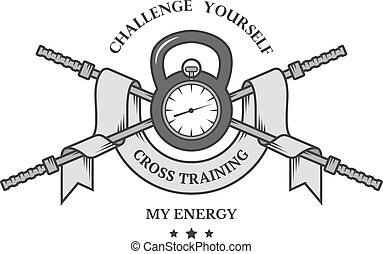 addestramento, croce, emblem.
