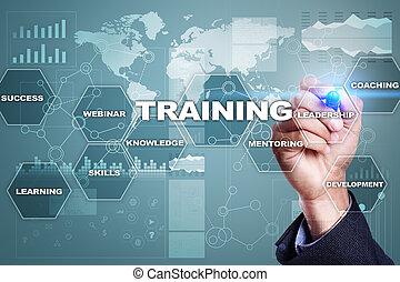 addestramento, e, sviluppo, professionale, growth., internet, e, educazione, concept.