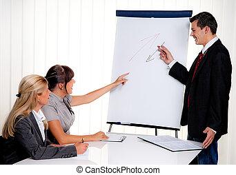 addestramento, educazione, adulti, personale