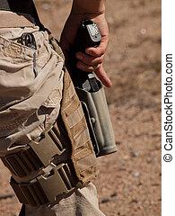 addestramento, fucile