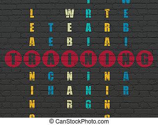 addestramento, parola, puzzle, risolvere, cruciverba, educazione, concept: