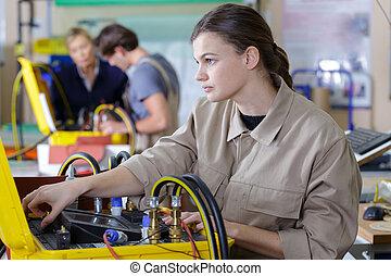 addestramento, persone, tecnico, giovane, professionale, insegnante
