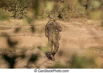 addestramento, suolo, esercito