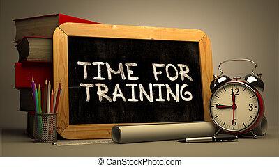 addestramento, text., -, mano, lavagna, tempo, disegnato