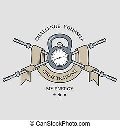 addestramento trasversale, time., emblem.