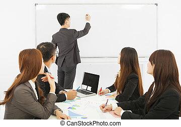 addestramento, ufficio affari, persone