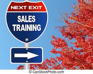 addestramento, vendite, strada, segno