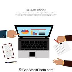 addestramento, workspace, affari