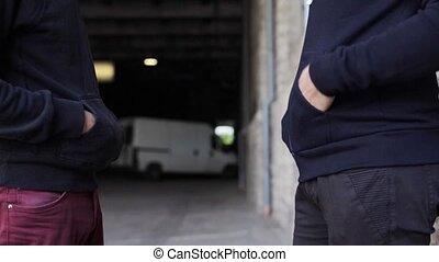 addict buying dose from drug dealer on street 40 - drug...