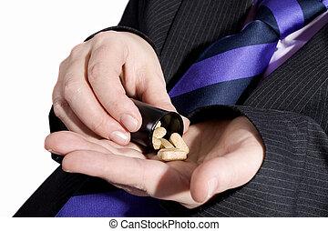 Addicted - Businessman addicted to pills.