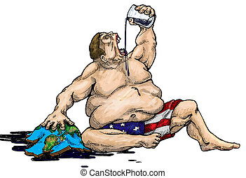 Addicted to oil Conceptual artwork, America's addiction to...
