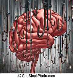 Addiction And Dependency - Addiction and dependency concept...