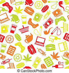 addiction seamless pattern